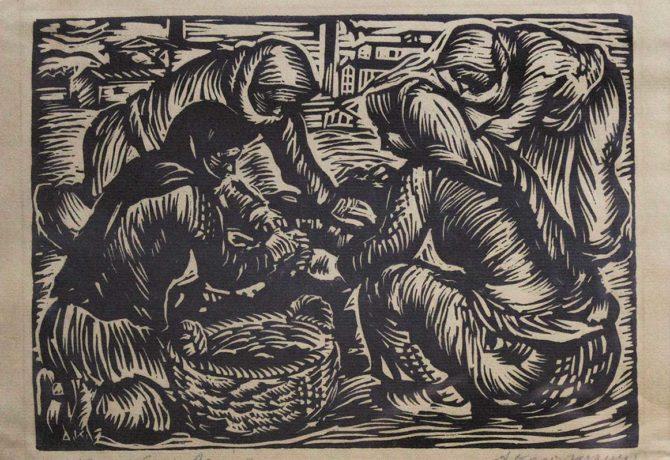 """ΚΟΡΟΓΙΑΝΝΑΚΗΣ ΑΛΕΞΑΝΔΡΟΣ (1906-1966) """"ΣΤΟ ΛΑΥΡΙΟ"""" (1936)"""