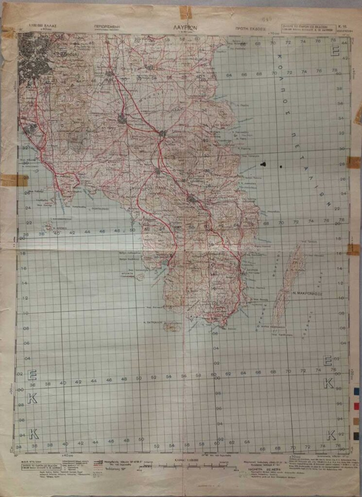 Χάρτης Λαυρίου 1945